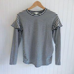 H&M Mama Maternity Long Sleeved Striped Shirt